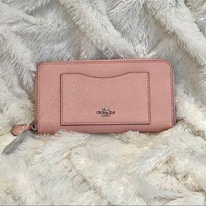 COACH Leather Accordion Zip Wallet Blush NWT